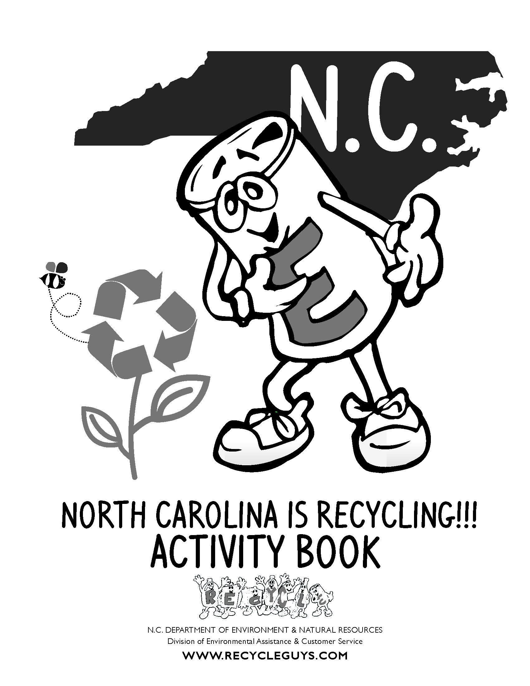 recycle guys activity book